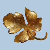 Autumn Maple Leaf Brooch by Giovanni, Vintage