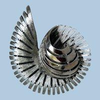 Stunning Silver-Tone Brooch by J.J.