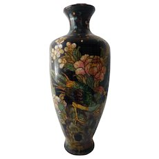 Antique Chinese Cloisonne Vase, 19th C, Great Ming Mark
