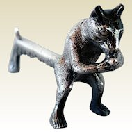 Vintage Pewter Fox Knife Rest