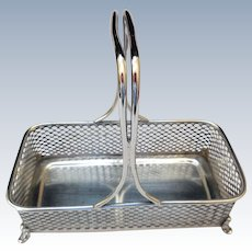 Early Sterling Silver Basket, Rand & Crane, Roger Williams