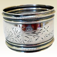 Early Sterling Silver Napkin Ring