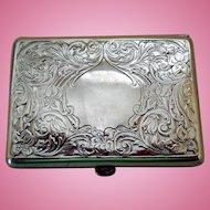 Antique Art Nouveau Sterling Silver Card Case