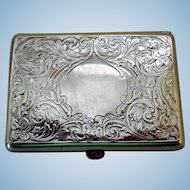 Antique Art Nouveau Sterling Silver Card Case