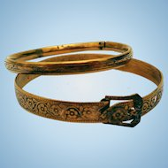 Victorian Child's Bracelets, (2) Gold-Filled