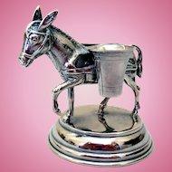 Vintage Sterling Silver Figural Double Salt by Cartier
