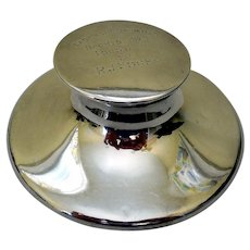 Antique Sterling Silver Inkwell, Athletic Trophy 1929
