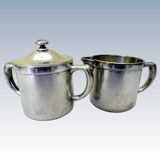 Vintage Silver Plated Cream & Sugar, American Hospital Supply Corp.