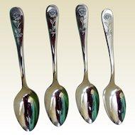 Vintage Hotel Astor Demi-Tasse Spoons (4)