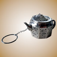Sterling Silver Kettle-Form Tea Ball