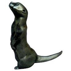 Pewter Otter Miniature Figurine, by Selangor