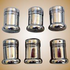Miniature Sterling Silver Salt & Pepper Shakers, 3 Pair