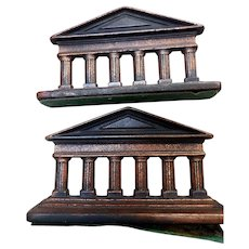 Pair Early 20th Century Architectural Iron Bookends