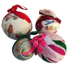 Vintage Collection of  Holiday Baubles, Kissing Balls