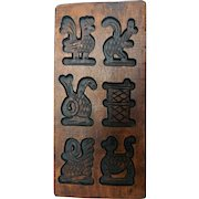 Vintage Hand Carved Wooden Cookie or Candy Mold
