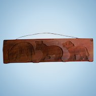 Primitive Hand-Carved Wooden Cookie Candy Mold