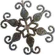 Vintage Hand-Made Beaded Showflake Ornament