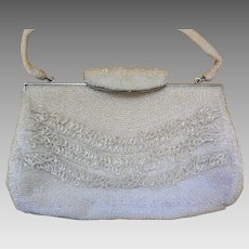 Vintage Hand-Beaded Bag, Purse, Japan, Ca 1950s