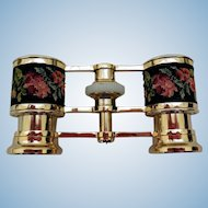 Vintage Opera Glasses with Needlepoint Decoration