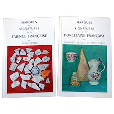 French Books of Marks & Signatures, Porcelain & Faience