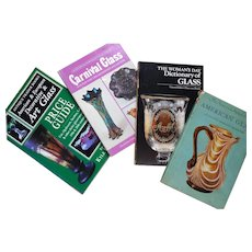Collection of Glass Reference Books (4) for Collectors and Dealers