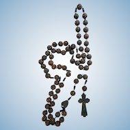 Vintage Ste. Anne de Beaupre Souvenir Wooden Rosary