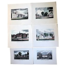 Collection of American College & University Hand-Colored Lithographs