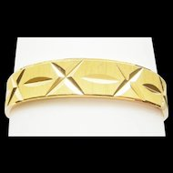 Bangle Bracelet Flashy Diamond Cut Large 22 Karat Gold Filled Flashy