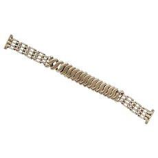 Vintage 50's 12 Karat Yellow Gold Filled Jewelers Best Champion Men's Dress Watch Band