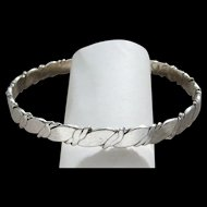 Vintage Sterling Silver Stack Bangle Bracelet Made in Old Mexico Very Nice