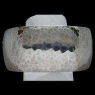 Vintage Singed G. Baird Sterling Silver Hand Hammered Wide Cuff Bracelet Lovely