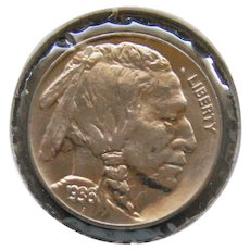 1936-P Buffalo Nickel Blazing White High Grade Coin