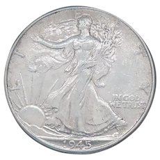1945-P Walking Liberty Half Dollar With Loads of Luster High Grade