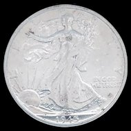1945-S Walking Liberty Half Dollar With Loads of Luster High Grade
