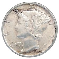 1945-P Mercury Head Dime Unc With Loads of Luster High Grade