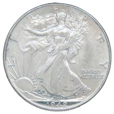 1942-P Walking Liberty Half Dollar With Loads of Luster High Grade