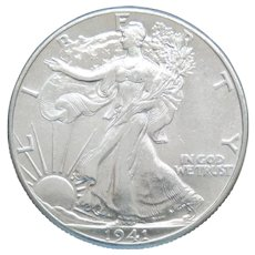 1941-P Walking Liberty Half Dollar With Loads of Luster High Grade