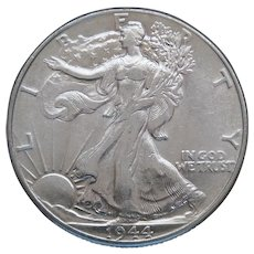 1944-P Walking Liberty Half Dollar With Loads of Luster High Grade