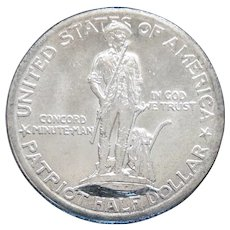 1925 Lexington Concord Silver Commemorative Half Dollar Very High Grade