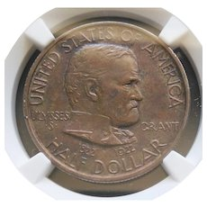 1922 Grant Commemorative Half Dollar Very High Grade