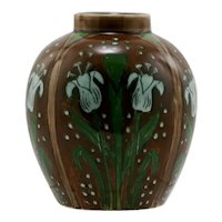 """Royal Bonn Old Dutch Tulips Art Nouveau 4.5"""" Vase c1890-1920"""