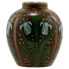 "Royal Bonn Old Dutch Tulips Art Nouveau 4.5"" Vase c1890-1920"