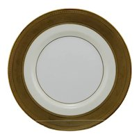"""Tiffany & Co. Mintons (4) 10"""" Plates H3841s Gold-Encrusted/Ivory Bone China"""