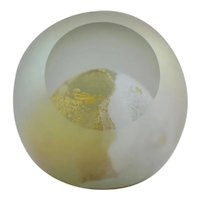 Glass Eye Studio GES Glass Faceted Paperweight With 'Moon' Design d2003