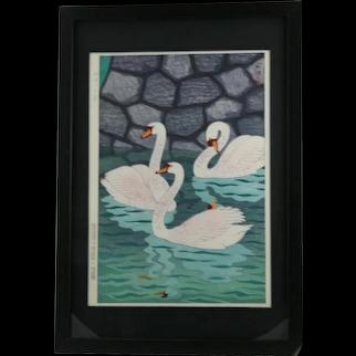 Kasamatsu Shiro (1898-1991) 'Spring at the Moat'