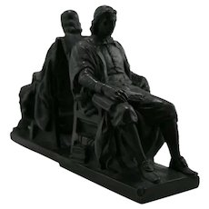 Marion Bronze 'John Harvard' Bookends c1935
