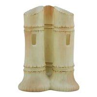 Edward Locke & Company Worcester Triple Bamboo Vase c1895-1900
