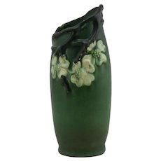 Roseville Dogwood I/Smooth Vase Dogwood Blossoms & Branch/Thicket Slanted Rim