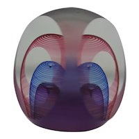 Blake St. Studios Faceted Glass Paperweight by Michael David/Kit Karbler Mint