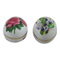 Danbury Mint Limited Edition Egg Trinket Boxes, 1980 & 1981